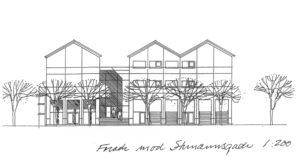 Tegning af bygningen Underværket